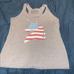 🇺🇸 American Flag Unicorn 🦄 Tank Top